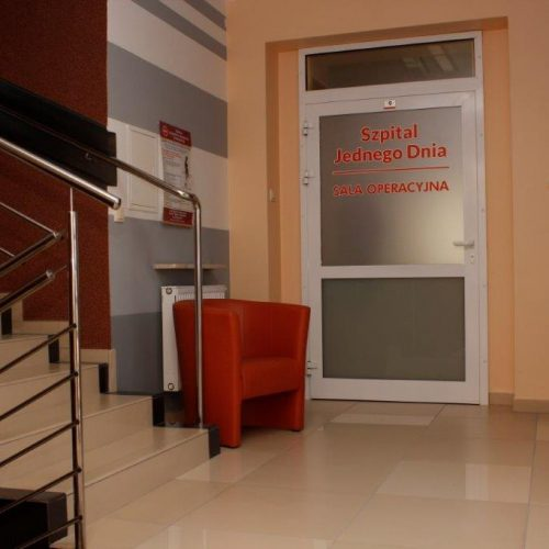 Szpital jednego dnia drzwi wejściowe