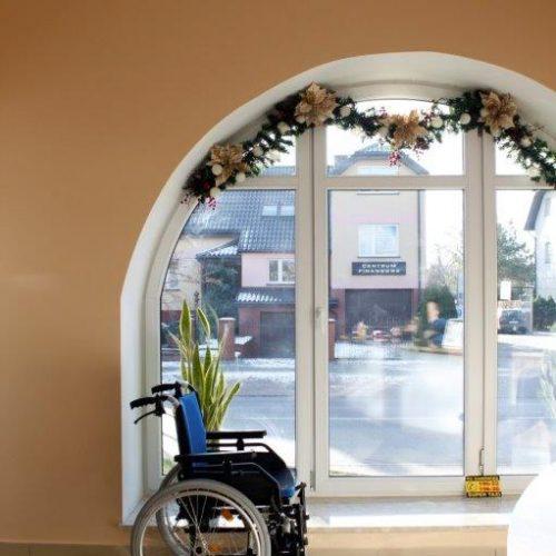 Recepcja zdjęcie wózka inwalidzkiego